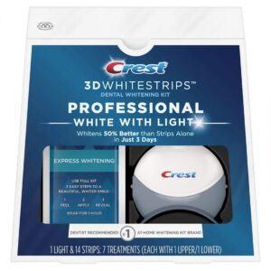 ОТБЕЛИВАЮЩИЕ ПОЛОСКИ CREST 3D WHITESTRIPS PROFESSIONAL WHITE WITH LIGHT